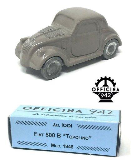 Officina 942 Fiat 500 B  U0026 39 Topolino U0026 39  Lichtgrijs 1948 1 43