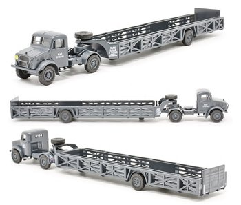 OXFORD DIECAST | BEDFORD OX QUEEN MARY TRAILER RAF | 1:76