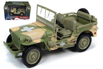 AUTO WORLD | WILLYS JEEP ARMY MEDIC CAMO WWII 1941 | 1:18