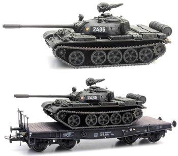 ARTITEC | T-55A NVA EISENBAHNTRANSPORT DDR (READY MADE) | 1:87