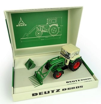 UNIVERSAL HOBBIES | DEUTZ D6005 4WD WITH CAB & FRONT LOADER LIM. ED. 1966 | 1:32