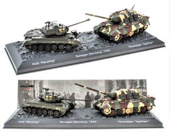 EDICOLA | THE BATTLE OF REMAGEN (GERMANY) TAMK SET 1945 M26 'PERSING' VS PANZERJAGER 'JAGDTIGER' | 1:72