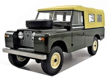 MODELCAR GROUP | LAND ROVER 109 PICK-UP DERIES II GESLOTEN CANVAS (DARK GREEN) MCG | 1:18