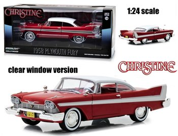 GREENLIGHT | CHRISTINE PLYMOUTH FURY 1958 CLEAR WINDOWS VERSION | 1:24