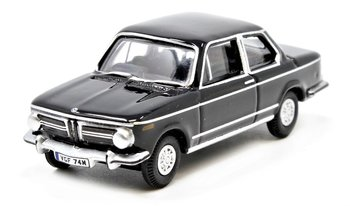 OXFORD DIECAST | BMW 2002 BLACK 1974 | 1:76