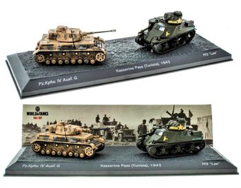 EDICOLA | KASSERINE PASS (TUNISIA) TANK SET 1943 Pz.Kpfw.VI AUSF.G - M3