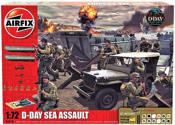 AIRFIX | D-DAY SEA ASSAULT SET 75TH ANNIVERSARY INCLUSIEF VERF (PLASTICBOUWPAKKET) | 1:72