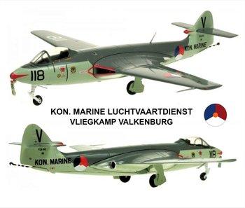 AVIATION 72 | MLD HAWKER SEA HAWK 'KONINKLIJKE LUCHTVAARTDIENST 'VALKENBURG' FGA.6 860 Sqn.' 1961 LIM.ED. 360 STUKS | 1:72