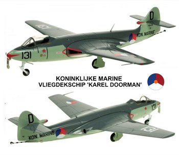 AVIATION 72 | KLU HAWKER SEA HAWK FGA.50-131/D KONINKLIJKE MARINE 'PRESERVED SOESTERBERG' KAREL DOORMAN LIM.ED. | 1:72
