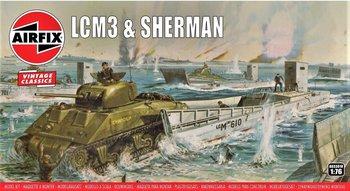 AIRFIX VINTAGE CLASSICS | LCM3 & SHERMAN TANK SET WWII | 1:76
