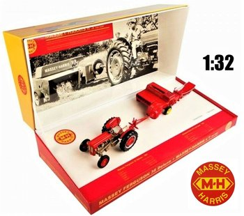 UNIVERSAL HOBBIES | MASSEY FERGUSON 35 DELUXE & MASSAY-HARRIS No 3 TRAIL BALER 1957 | 1:32