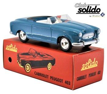 SOLIDO CLUB | PEUGEOT 403 CABRIOLET BLAUW 1959 | 1:43