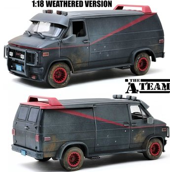 GREENLIGHT | THE A-TEAM GMC VENDURA 1983 WEATHERED VERSION LIM. ED. | 1:18