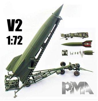 PMA | V2 ROCKET GERMAN ARMY 1945 WHIT LAUNCH TRAILER | 1:72