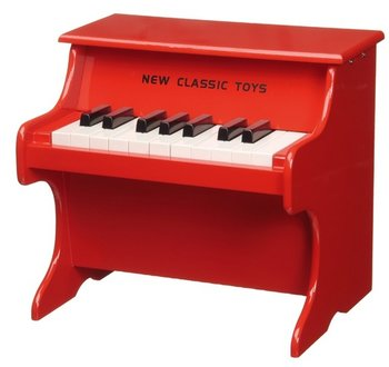 NEW CLASSIC TOYS - PIANO HOUT - ROOD