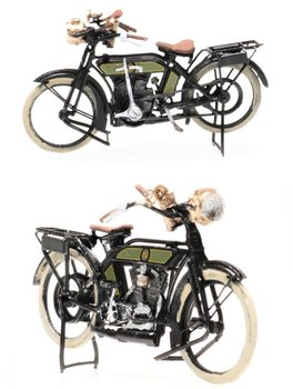 ARTITEC | NSU MOTORFIETS PERIODE I CIVIEL (READY-MADE) | 1:87