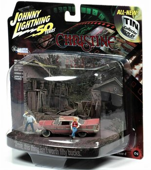 JOHNNY LIGHTNING | CHRISTINE PLYMOUTH FURY DIRTY VERSION DISPLAY WHIT FIGURES | 1:64