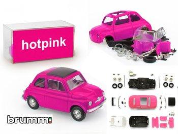 BRUMM | FIAT 500F PREPAINT HOTPINK ZELFBOUWKIT (40 ONDERDELEN) LIM.ED. | 1:43