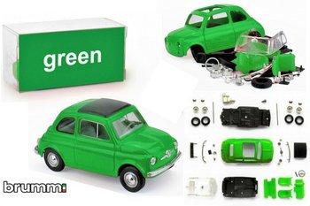 BRUMM | FIAT 500F PREPAINT GROEN ZELFBOUWKIT (40 ONDERDELEN) LIM. ED. | 1:43