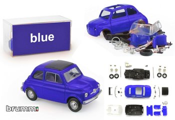 BRUMM | FIAT 500F PREPAINT BLAUW ZELFBOUWKIT (40 ONDERDELEN) LIM.ED. | 1:43