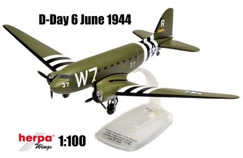 HERPA | DOUGLAS C-47 SKYTRAIN USAAF D-DAY 'OPERATION NEPTUNE' (SNAP-FIT) | 1:100