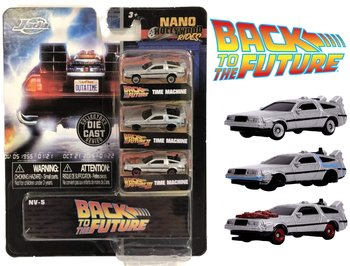 JADA | NANO HOLLYWOOD RIDES 'BACK TO THE FUTURE' TIME MACHINE 3 CAR SET DELOREAN DMC | 1:65 INCH