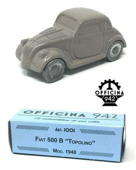 OFFICINA 942 | FIAT 500 B 'TOPOLINO' LICHTGRIJS 1948 | 1:43