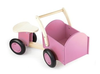 NEW CLASSIC TOYS - LOOPBAKFIETS ROZE  - HOUT