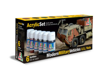 ITALERI - ACRYLIC VERF SET 'MODERN MILITARY VEHICLES US/NATO' - 20ML