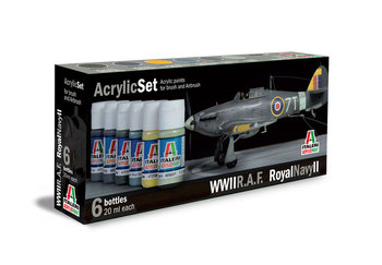 ITALERI - ACRYLIC VERF SET 'R.A.F. ROYAL NAVY II' - 20ML