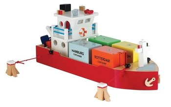 NEW CLASSIC TOYS - CONTAINERBOOT MET 4 CONTAINERS