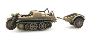 ARTITEC - SdKfz 2 Kettenkrad geel (kant en klaar model) - 1:87