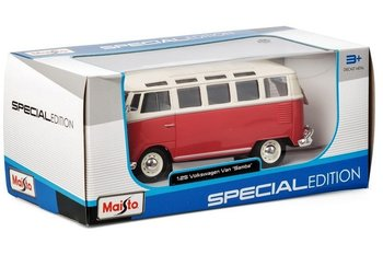MAISTO - VOLKSWAGEN T1 SAMBA BUS 1962 (SPECIAL EDITION) ROOD/WIT - 1:25