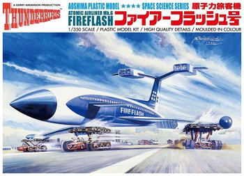AOSHIMA | THUNDERBIRDS FIRE FLASH ATOMIC AIRPLANE (PLASTIC MODELBOUWDOOS) | 1:350