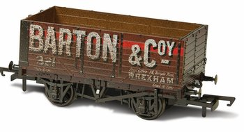 OXFORD RAIL   PLANK WAGON 'BARTON & Co No. 321-7' WEATHERED  H0 00