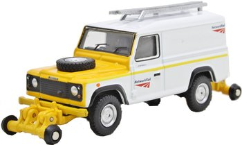 OXFORD RAIL | LAND ROVER RAIL ROAD DEFENDER 'NETWORK RAIL' | 1:76