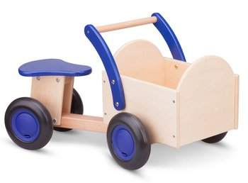 NEW CLASSIC TOYS | LOOPBAKFIETS BLANK/BLAUW | HOUT