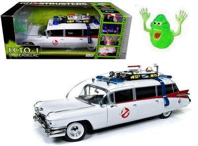 "AUTO WORLD | CADILLAC GHOSTBUSTERS ECTO-1 WITH GHOST ""SLIMER"" 1959 