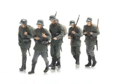 ARTITEC | MARCHERENDE DUITSE INFANTERIE 6 FIGUREN WWI (READY MADE) | 1:87