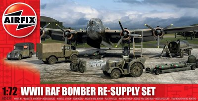 AIRFIX | WWII RAF BOMBER RE-SUPPLY SET (PLASTIC MODELBOUWDOOS) | 1:72