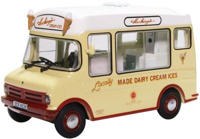 OXFORD DIECAST | BEDFORD CF ICE CREAM VAN MORRISON 'HOCKINGS' | 1:43