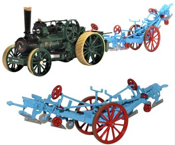OXFORD DIECAST | PLOUGHING ENGINE FOWLER 15334 'LADY CAROLINE' AND PLOUGH 1920 | 1:76