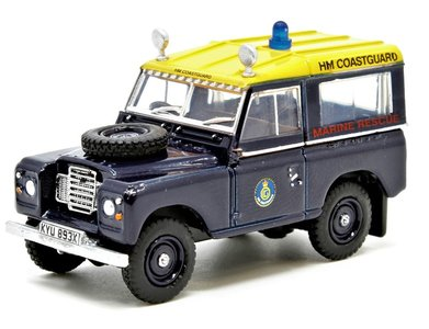 OXFORD DIECAST | LAND ROVER SERIES III SWB STATION WAGON COASTGUARD | 1:76