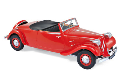 NOREV | CITROËN TRACTION AVANT CABRIOLET 11B 1939 (ROOD) EXCLUSIEF LIM.ED. 100 PC | 1:18