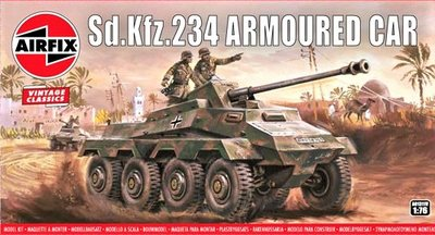 AIRFIX VINTAGE CLASSICS | SD.KFZ.234 ARMOURED CAR WWII | 1:76
