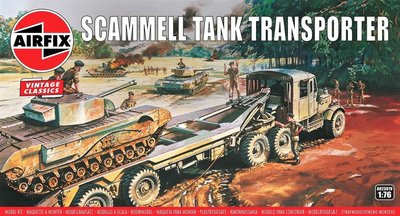 AIRFIX VINTAGE CLASSICS | SCAMMEL TANK TRANSPORTER WWII | 1:76