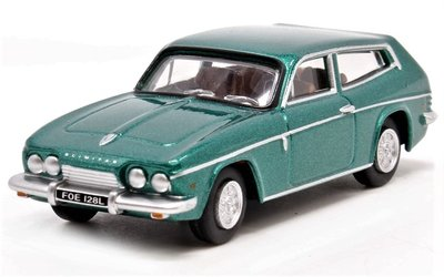 OXFORD DIECAST | RELIANT SCIMITAR 'TUDOR GREEN METALLIC' | 1:76