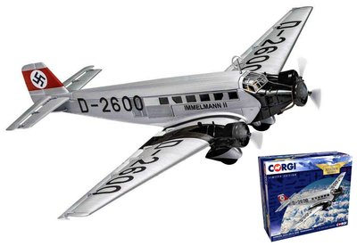 CORGI   JUNKERS JU-52/3m IMMELMANN II HILTERS PLANE 1936 LIM.ED.   1:72