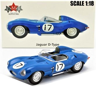 CMR | JAGUAR D-TYPE No.17 JEAN LUCAS/JEAN-MARIE BRUSSIN 3RD 24H LE MANS 1957 | 1:18