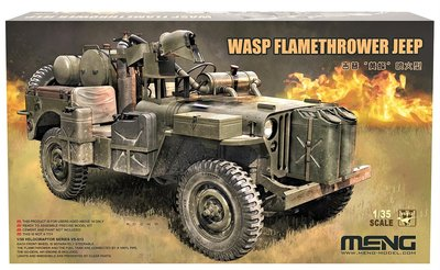MENG   WASP FLAMETHROWER WILLYS MB JEEP   1:35